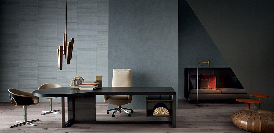 Bureau moderne jobs par poltrona frau for Poltrona scrivania design
