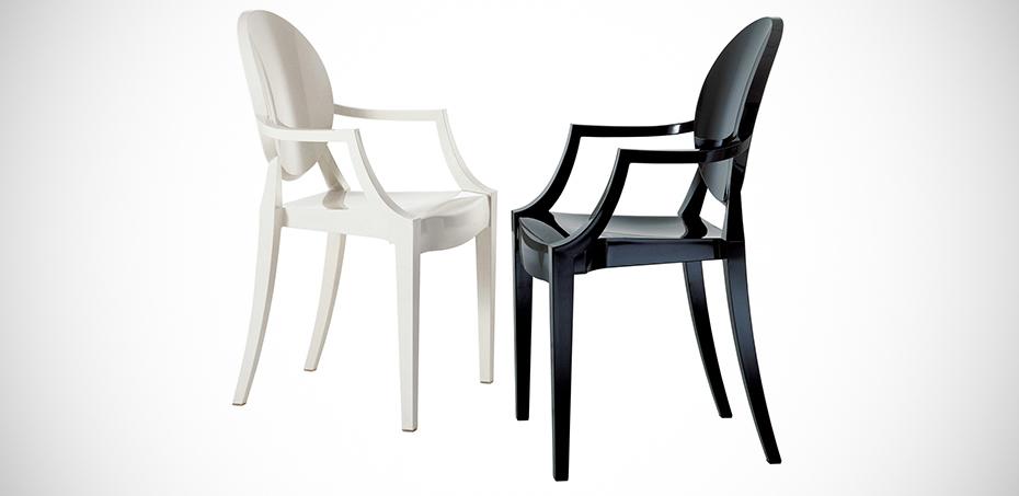chaises design louis ghost par kartell design philippe starck. Black Bedroom Furniture Sets. Home Design Ideas