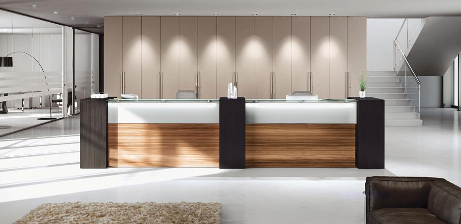 banque d 39 accueil nice par las mobili design si design. Black Bedroom Furniture Sets. Home Design Ideas