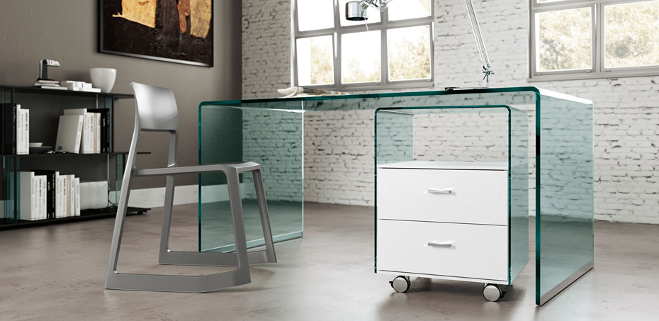 mobilier bureau design rialto par fiam. Black Bedroom Furniture Sets. Home Design Ideas